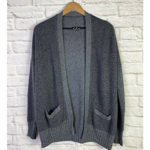 Aritzia Talula Grey Knit Open Cardigan